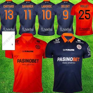 20 21 Maillot Montpellier HSC maillots de football 2020 2021 DELORT maillot de foot SAVANIER LECOMTE LABORD CHOTARD MAVIDIDI maillots de football
