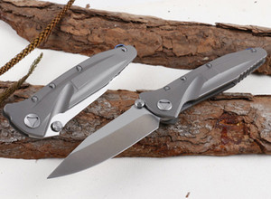 High End Survival Tactical Folding Blade knife D2 Satin Drop Point Blade TC4 Titanium Alloy Handle Ball Bearing Fold Knives