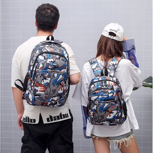 Camouflage Backpack Large Capacity Outdoor Travel Backpack Schoolbag Students Youth Boy Girl School Bag VT2012