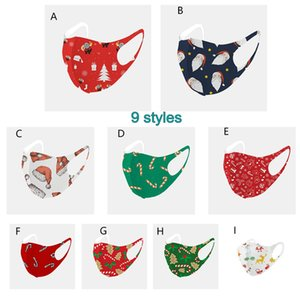2021 Christmas designer face mask adult kid mouth mask dustproof Breathable protective ice silk christmas face mask cover protective masks
