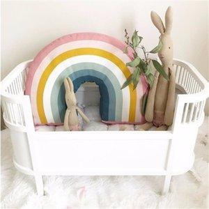 Nórdico 25x35cm arco-íris travesseiro crianças arco-íris brinquedos macio decorativo enchido almofada desenhos animados almofada bebê decorar berçário decor lj200916