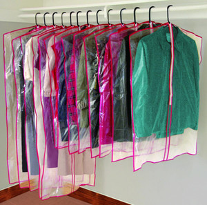 13 Clear Zippered Hanging Garment Bags Travel Storage Cover w  Zipper Suit Dress