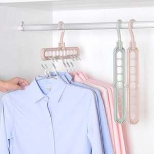 Swivel Magic Multi-port Support Hangers Clothes Drying Rack Multifunction Plastic Clothes Rack Drying Hanger Storage Hangers GWE3554