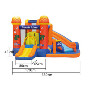Inflatable Bouncy Castles Slide Water Park Pirates Islands Garden Supplie Kids Playing Area Outdoor Pirate Boat Wet Slides With Swimming Pool For Children