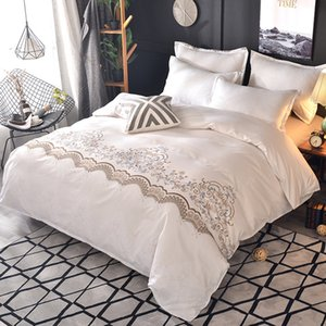 3Pcs WAZIR Hot Sale Luxury Style Lace Bedding Set Duvet Cover Set Pillowcase Comfortable Bedding Sets Bedclothes Bed Linen Z1126