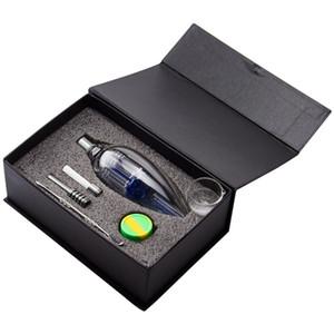 Headshop999 NC042 CSYC Arm Tree Perc Gift Box Set 510 Titanium Quartz Ceramic Nail Glass Bong Glass Water Pipe Smoking Pipes