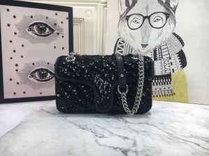 2021 Neue weibliche Designer Pailletten Glänzende Handtasche Messenger Bags Handtasche Umhängetaschen Kupplungsbeutel Handtasche Münzbeutel Messenger Bags Messenger Bag