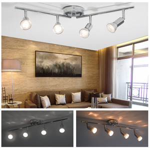 LED Multi-Head Foundlight Track Light Feat Focus Spotlight Регулируемое освещение, 4 потолочных света Внутреннее, гостиная (без лампочки)