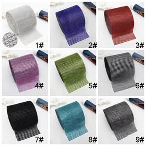 10YARD 24 ROUILLES Bendable Diamant Wrap Wrap Rouleau Argent Or Gold Sparkle Strass Ruban Ruban Plastique Diamant Mesh Ruban EWD3661
