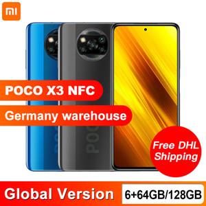 Глобальная версия Xiaomi Poco X3 NFC 6GB 64GB / 128GB Smartphone Snapdragon 732G Octa Core 64MP Quad Camera 6,67 дюйма 120 Гц DotDisplay 5160mAh