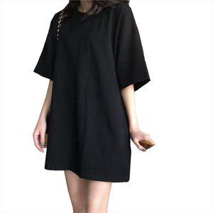 Women Dress 2020 New Arrival Fruit Solid Short Sleeve Summer Dress Round neck Casual Loose Mini Dresses Vestidos