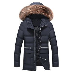 New Men's Hooded Duck Overcoat Plus Size Outwear Jacket Men Winter Down Coat Y1120