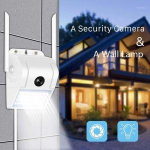 Wall Lamp Camera Outdoor IP66 Waterproof 1080P Good Night Vision Wide Angle With Speaker CCTV RJ45 WIFI Hidden Streetlight1
