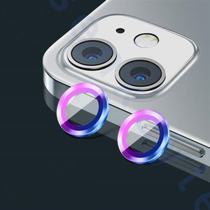 For iPhone 12 Mini 11 Pro Max Metal Alloy + Tempered Glass Back Camera Lens Case Cover