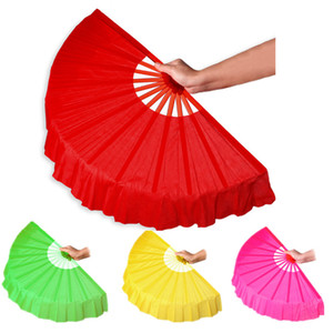 Pure Colors Hand Fan Imitation Silk Chinese Hand Fan for Dance Stage Performance