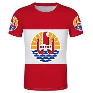 French Polynesia T-shirt mens sports T-shirt DIY T-shirt 3D custom country name number logo