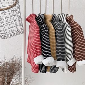 2020 Autumn Winter New Children's T-shirt Baby Korean Soft Top Girl Bear Stretch Half Turtleneck Bottoming Shirt Baby Clothes Z1119