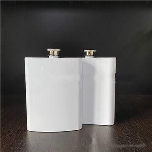 8 унций белая бедра колба из нержавеющей стали сублимация пустой горшок DIY карманный мини-открытый кемпинг бутылки винные пьющие 12 5BW G2