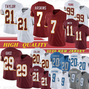 7 Dwayne Haskins Futbol Forması 20 Landon Collins 26 Adrian Peterson 21 Sean Taylor 11 Smith 9 Matthew Stafford 20 Barry Sanders
