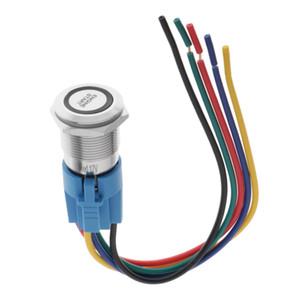 19мм Металл кнопочный Красный Illuminated 12 Стартер Выключатель запуска двигателя Модификация, Простота установки, Универсальный, пригодный для всех транспортных средств
