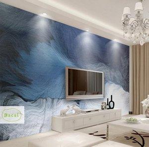 Bacal Wandpapier 3D benutzerdefinierte Fototapete Wandbild abstrakte blaue Streifen Tinte Landschaft Wand dekorative Malerei Papel de parede 3d1