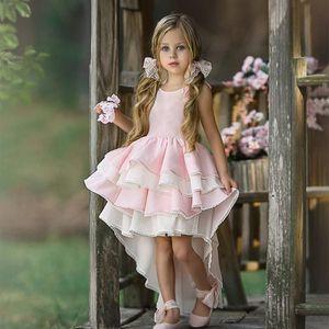 1-6y Toddler Baby Kid Girls Dress Lace Ruffles Tutu Party Wedding Birthday Formal Dresses For Girls Children sqcHlj