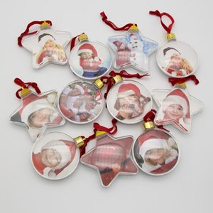 DIY Fotoğraf Topu Noel Hediyeleri Fotoğraf Top Klip Yuvarlak Beş Yıldızlı Noel Ağacı Süsler Düğün Hediyesi GWD3078
