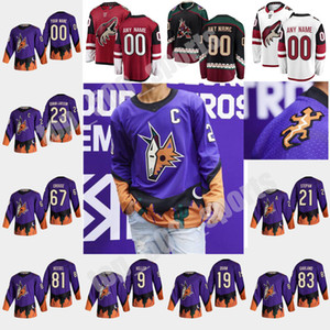 Arizona Coyotes 2021 Reverse Retro Jerseys Hóquei 91 Taylor Hall Jersey Phil Kessel Shane Doan Clayton Keller Darcy Kuemper Costume Costume