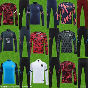 2021 Costume de formation de jogging pour hommes de Manchester 2021 Madrid Family Football Football