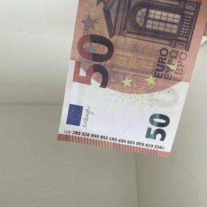 100 unids / paquete Copia realista Euro PROP MONEY EE. UU. Papel para niños o Billete de banco Juego 50 Juguete familiar para colección 037 2020 NiffQ