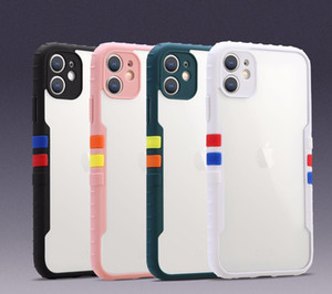 Protezione della fotocamera Colorful Bumper Air Armor Clear Phone Case per iPhone 12 Mini 11 Pro XS Max XR x 7 8 Plus