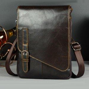 Oil Waist Body Men Bag Hook Genuine Cross Wax Vintage Travel Shoulder Messenger Leather Belt Bag Fanny Waist Xgiki
