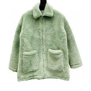 Qualité parfaite Andrea Martin Women's Women's Women's Manteaux de fourrure d'hiver Veste d'impression XS-M