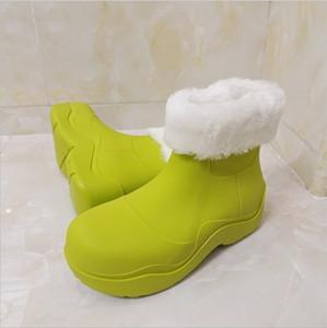 2020 Winter Wool Women's Snow Boots Candy Color Rain Boots Women Waterproof Warm Ankle Boots Flat Winter Platform Shoes Woman