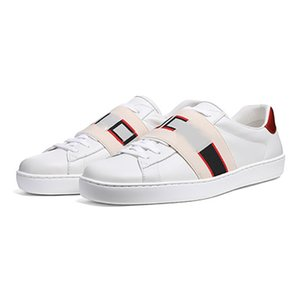 Diseñador Zapatillas de deporte de tenis Zapatos para hombres Mujeres 1977 Lujos de moda Casual Ace Bee Tiger Stripas blancas Zapatos de cuero 1970 Tamaño 35-47