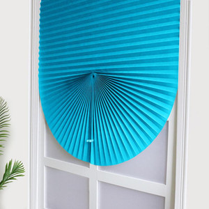 Perde Sunshade 2020 Yeni Kendinden Yapışkanlı Pileli Panjur Yarı Gölgelendirme Banyo Pencere Kapı Güneşlik