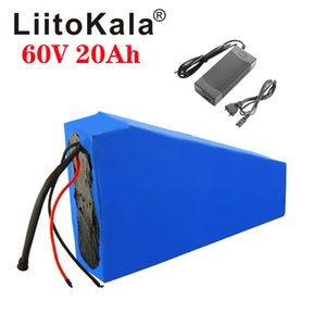 LiitoKala 60V ebike battery 60V 20Ah lithium ion battery electric bicycle 60V 1500W electric scooter battery + 67.2V2A