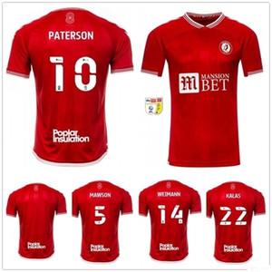 20 21 Bristol City Football Jersey 10 Paterson Mawson Martin Diedhiou Wells Massengo Kalas Dasilva Custom 2020 Weimann Home Shirt Red Fútbol