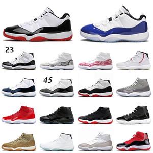 Retro 11 Zapatos de baloncesto de la moda Baja 11 Jumpman infrarrojos 23 serpiente verde Varsity Red Entrenadores zapatillas de deporte para los hombres