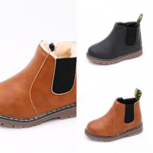 4763 leatherMartin children's fashion new autumn and designer winter style children's snow bootsoled Girls boots with plush British soft