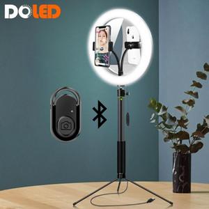 Beauty Selfie Ring Light Circle Lamp مع مرآة لفنان ماكياج YouTuber Vlogger أخذ فيديو مباشر على YouTube Tiktok