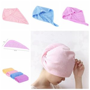 Dry Hair Towel Microfiber Dry Hair Caps Soft Comfortable Lady Bath Caps Individually Wrap Quick Shower Cap CYZ2933 500Pcs