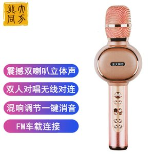 Drahtloses Bluetooth-Karaoke-Mikrofon, 3 in 1 tragbarer Handmaschine Karaoke-Mikrofon-Lautsprecher-Weihnachtsfamilie-Geburtstagsfeier gilt