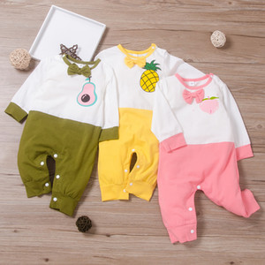 Autumn Jumpsuit For Baby Girl And Boy Cute Fruit Animal Letter Cotton Rompers Toddler Clothes Long Sleeve Trousers Onesies