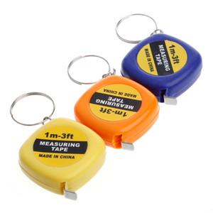 2020 Mini Portable Pull Ruler Keychain 1m 3ft Easy Retractable Measure Ruler Tape Children Height RulerColor Random