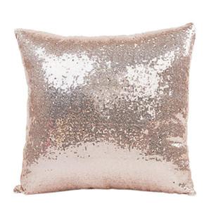 40x40cm Glitter Bling Bling Throw Pillow Case FAI DA TE Sequin Pillowcase Throw Pillow Home Hotel Cushion Supply 4Color