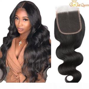 الجملة البرازيلي الشعر الدانتيل إغلاق 100٪ الماليزية بيرو الهندي الجسم موجة الشعر البشري اللون الطبيعي أعلى إغلاق مجانا shinpping لا تشابك
