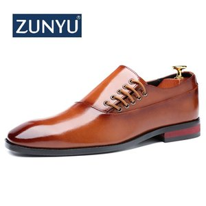 Zunyu Fashion Business Dress Dress da uomo Scarpe Nuove classiche in pelle da uomo Suits Shoes Fashion Slip On Dress Shoes Men Oxfords Size 37-48 C1120