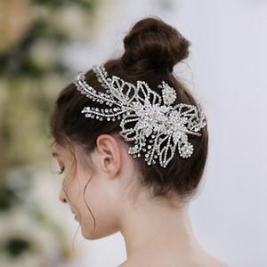 خمر 2021 الزفاف أغطية الرأس الزفاف اليدوية الزفاف اكسسوارات للشعر بقعة الجملة الزفاف خيط الزفاف الكريستال الفاشنات