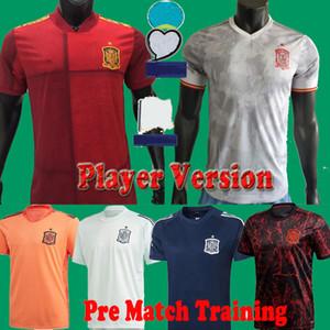20 21 Versione del giocatore Spagna Fan PRE Allenamento Asensio Ramos Morata Soccer Jerseys 2020 Espana Portiere Camisetas Camicie da calcio Kit